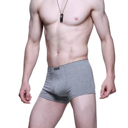 金丰田内裤男士内裤莫代尔运动内裤男平角裤 u凸性感柔软3391