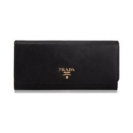 PRADA黑色按扣钱夹 1M1132 UZF F0002