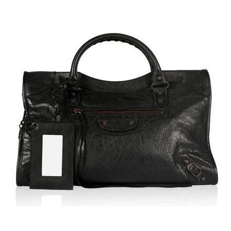 Balenciaga巴黎世家女式黑色羊皮经典City包115748 D94JT 1000