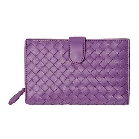 Bottega Veneta宝缇嘉女式羊皮编织钱夹121060 V001N