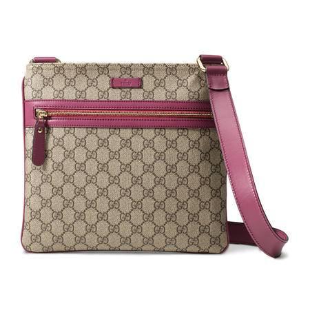 GUCCI古驰女式织物配紫粉色皮斜挎包295257 KGDHZ 9777