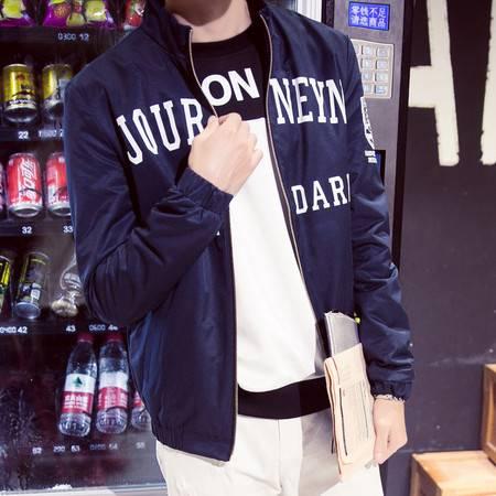维杰斯   2016秋装新款男装 潮 男士英伦时尚休闲立领免烫水洗夹克外套 男