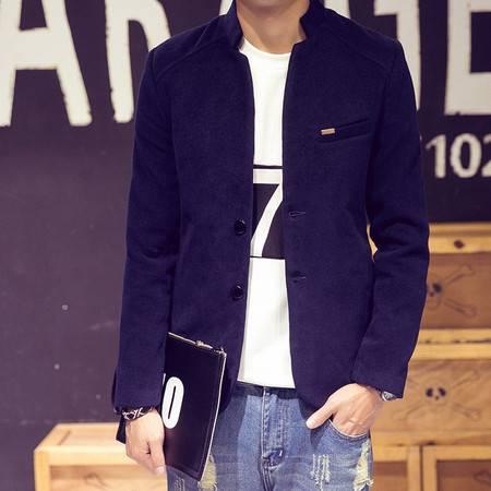 维杰斯    2016秋装新款男装 日系韩版修身都市休闲呢子夹克 时尚 男外套