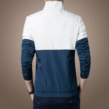 维杰斯 2016秋装新款 男士时尚都市休闲英伦轻便薄夹克 立领拼色百搭夹克衫男外套