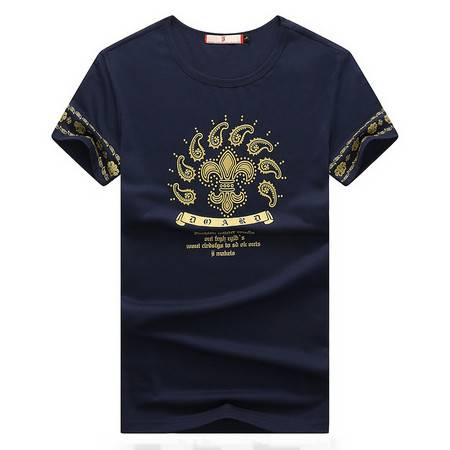 维杰斯  2016夏装新款男装T恤 男士韩版时尚休闲短袖圆领T恤 印花水洗百搭短袖T恤 男