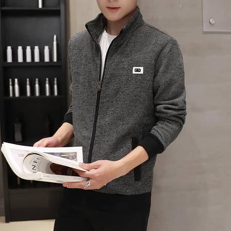 维杰斯 2016秋装新款夹克 潮男 日系韩版时尚休闲青年夹克衫外套 男士立领夹克衫 男外衣