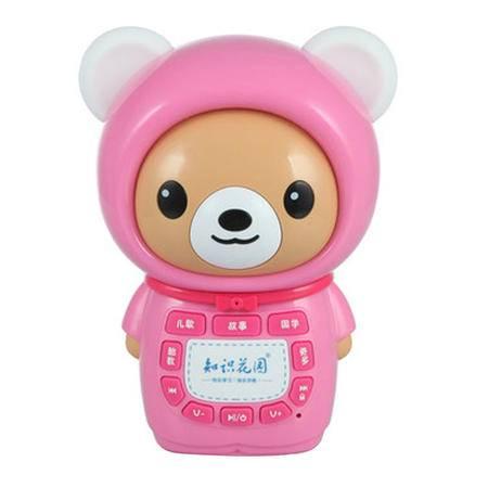 知识花园太空熊故事机T8 梦幻耳灯带童锁配置2G内存卡无线下载无线遥控内置锂电池可充电