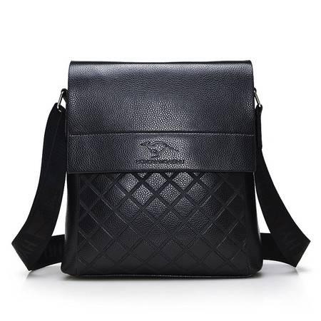 鸿岩袋鼠包邮韩版潮流时尚真皮单肩包斜跨包休闲包男包小包