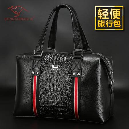 新款时尚商务休闲行李包男士大容量出差防水手提旅行包小款