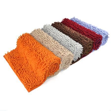 普润 高档超细纤维长毛雪尼尔地垫 浴室吸水防滑垫40*60cm