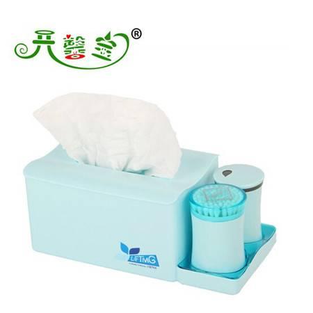 开馨宝炫彩多用途纸巾盒+牙签+棉签盒套装