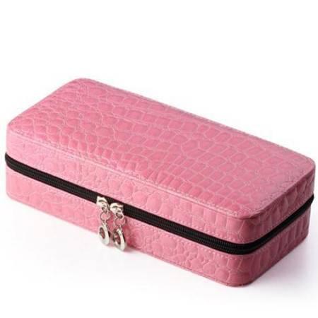 开馨宝韩式拉链包首饰收纳盒/饰品盒粉色