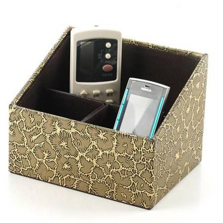 开馨宝三分格梯形遥控器收纳盒/多用途储物盒-古铜色裂纹(K8501-1)