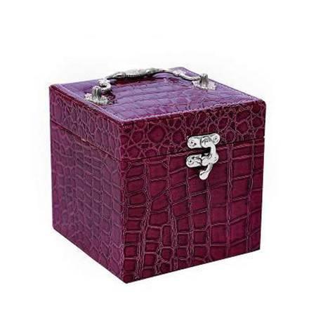 开馨宝 经典复古三层首饰收纳盒紫色