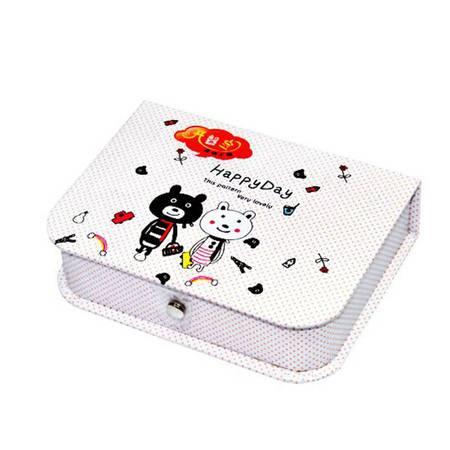 开馨宝 韩版小熊迷你储物盒/时尚收纳盒钱卡包XP6102