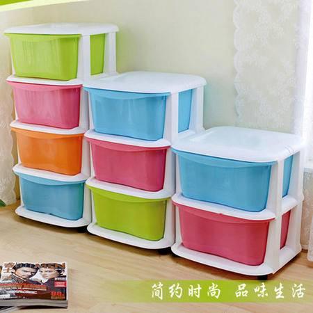 开馨宝 炫彩宝宝收纳柜 衣物整理柜 儿童玩具柜-四层(K8242)  DF001