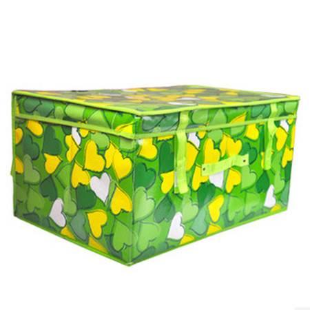 优芬收纳箱防水收纳箱大号防水箱 绿色心情收纳箱 衣物收纳整理箱60*40*30CM