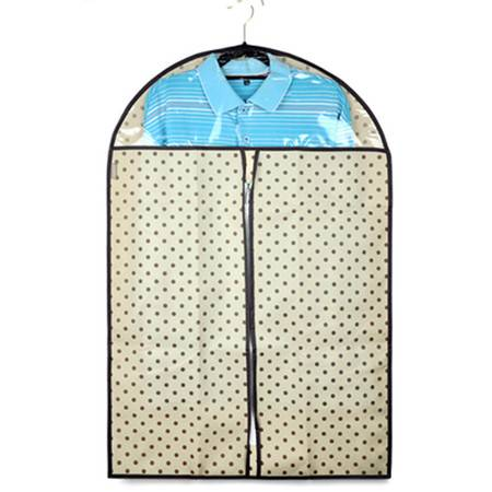 优芬 五只装 加厚西服罩60*100cm大衣防尘罩衣物收纳防尘袋衣罩印花防尘套 无纺布颜色随机