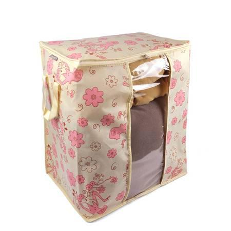 优芬 三只装 芬女郎棉被衣物收纳袋43*30*50CM 视窗储存箱65L(绿色粉色随机发货)