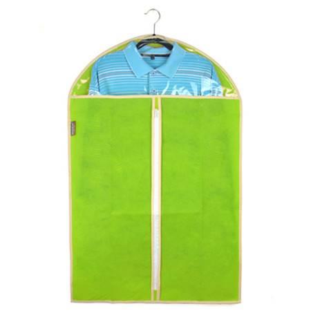 优芬 三只装 绿色加厚西服罩60*100cm大衣防尘罩衣物收纳防尘袋衣罩印花防尘套 无纺布布