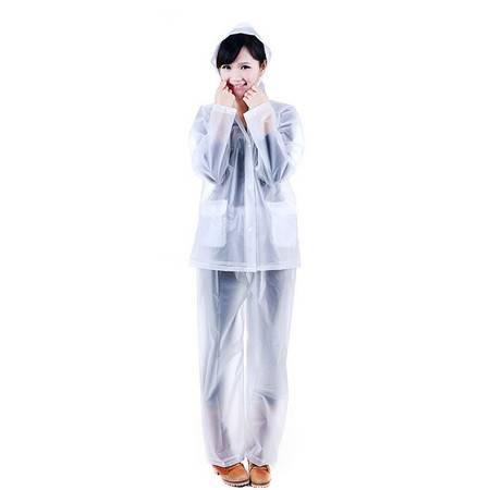 普润 纯色分体式雨衣雨裤套装-L码 白色(818)