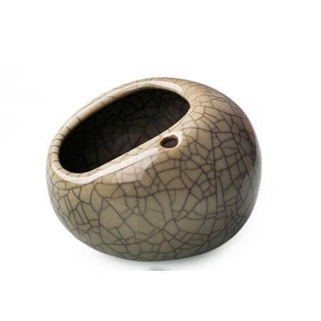 陶瓷故事 烟灰缸 创意个性复古大号烟缸男士礼品实用时尚 米黄釉