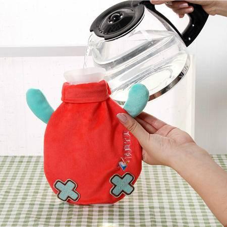 创意品鱼系列 贮水式丝绒热水袋 可拆卸清洗暖手宝