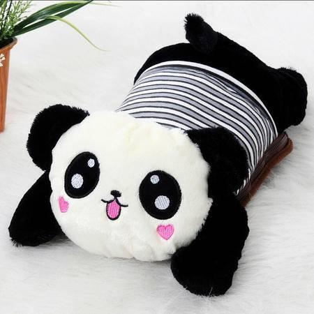 耀点100 可爱小熊猫可拆洗双插手热水袋/电暖袋 未注水--颜色随机