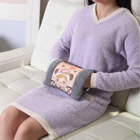 春笑牌 绒布双插手电热水袋 灰色 CX-D4