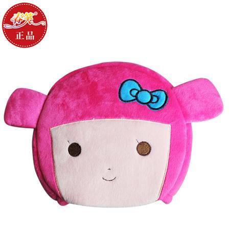 春笑 情侣款豆豆女孩 USB暖手鼠标垫/USB鼠标垫/USB电热鼠标垫(粉色)
