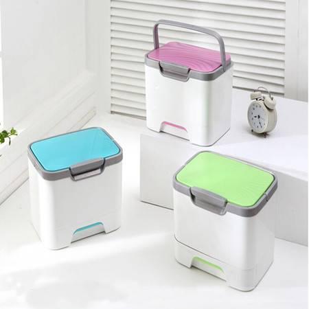 普润 日式时尚手提药箱 带抽屉医药收纳盒 家庭用保健箱 绿色