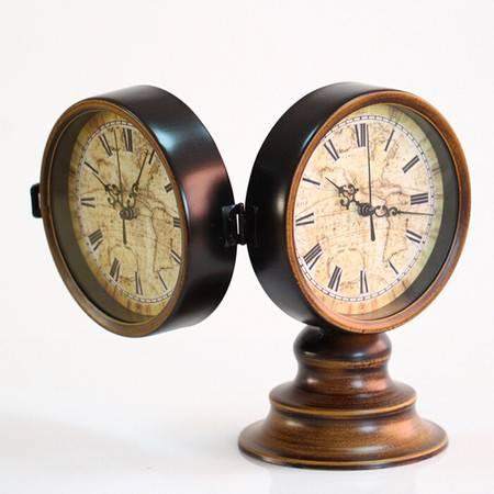 普润古典欧式 双面座钟/铁艺座钟/装饰座钟