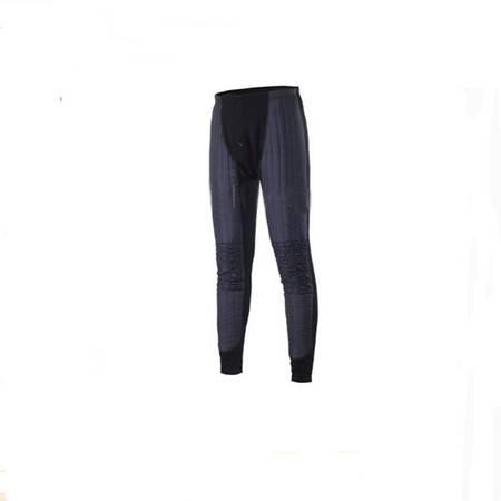 冰洁发热加绒女保暖裤羊绒男加厚棉毛裤防寒棉裤 黑色XL