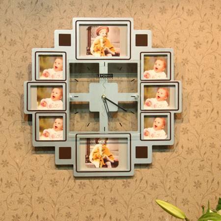 普润 静音相框挂钟客厅卧室挂钟钟表墙钟 客厅书房装饰钟