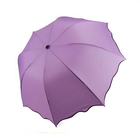 普润 日韩国创意太阳伞遮阳伞 防紫外线雨伞防晒彩虹伞 紫色