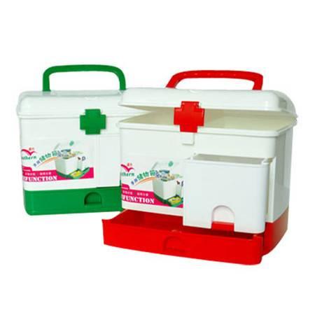 红兔子 家庭保健多用药箱 家庭超大号医药箱 药品收纳箱