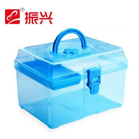 振兴家庭用保健箱 儿童医用小药箱 小卫生收纳 药品储存箱 蓝色