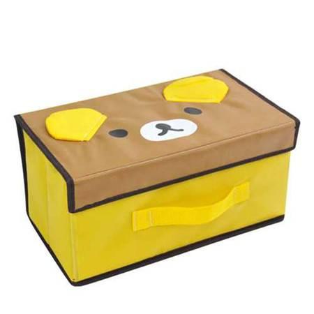 开馨宝 可爱动物小号收纳箱/整理箱/储物箱-咖啡熊(K8218)
