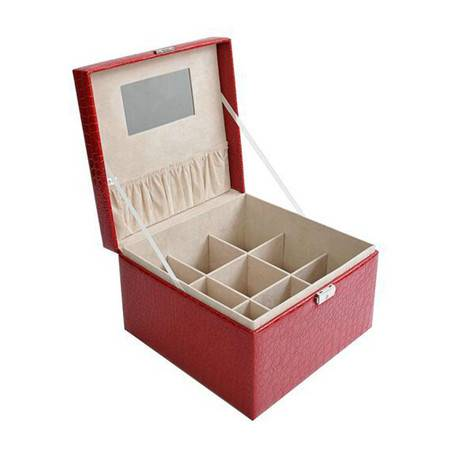 开馨宝 鳄鱼纹手提式加大格首饰盒/饰品盒/收纳盒