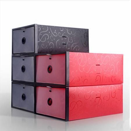 星空夏日 加大加厚鞋柜式雕花女款鞋盒 红色2只装