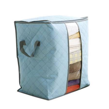 普润 竹炭透明窗衣物收纳袋 防尘袋--橙色