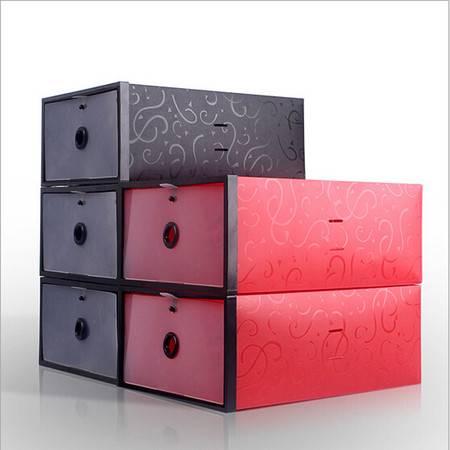 星空夏日 鞋柜式透明鞋盒 收纳盒 女款黑色 黑框