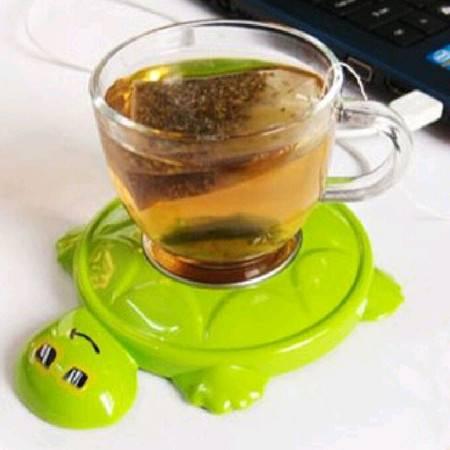 耀点100 冬季保温保暖 韩版乌龟造型USB电热保温碟 水杯保温垫 颜色随机发