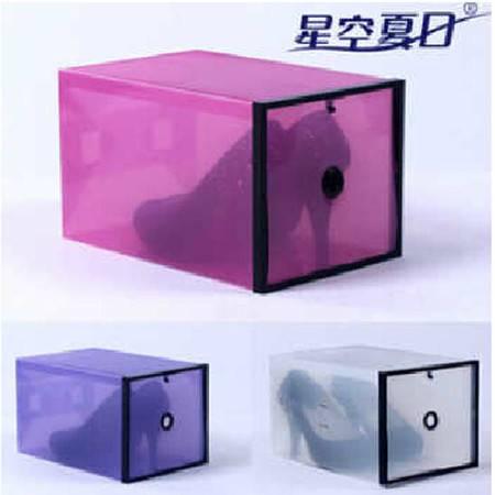 星空夏日 高跟鞋专用鞋盒  收纳盒 紫色加黑框2只装