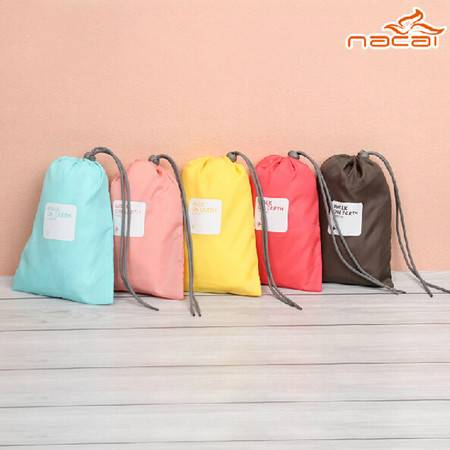 普润 纳彩4枚装旅行收纳袋/幸运袋--浅粉色