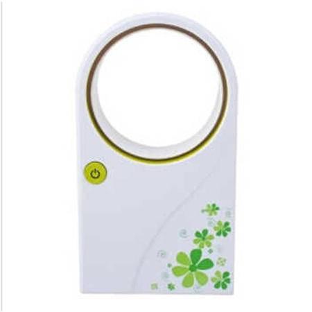 普润手持式USB电池两用空调无叶风扇-绿色MT1102