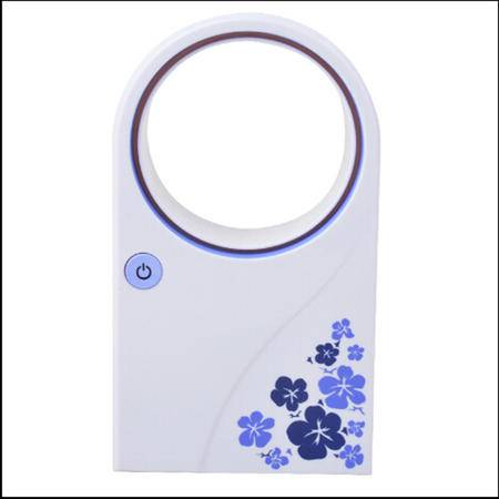 普润 手持式USB电池两用空调无叶风扇-紫色