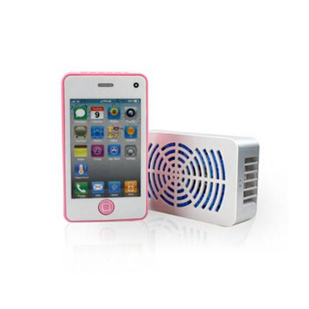 耀点100 迷你手持便携空调风扇/iphone4迷你掌上空调扇蜗牛USB小风扇 颜色随机