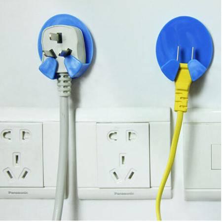 普润 电源插头插座挂钩挂架 多功能挂钩 插头挂钩 10枚装颜色随机VA3202