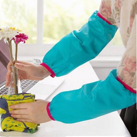 清新牛津布防污防水袖套 家务办公2双装 长款可水洗 颜色随机KA3202